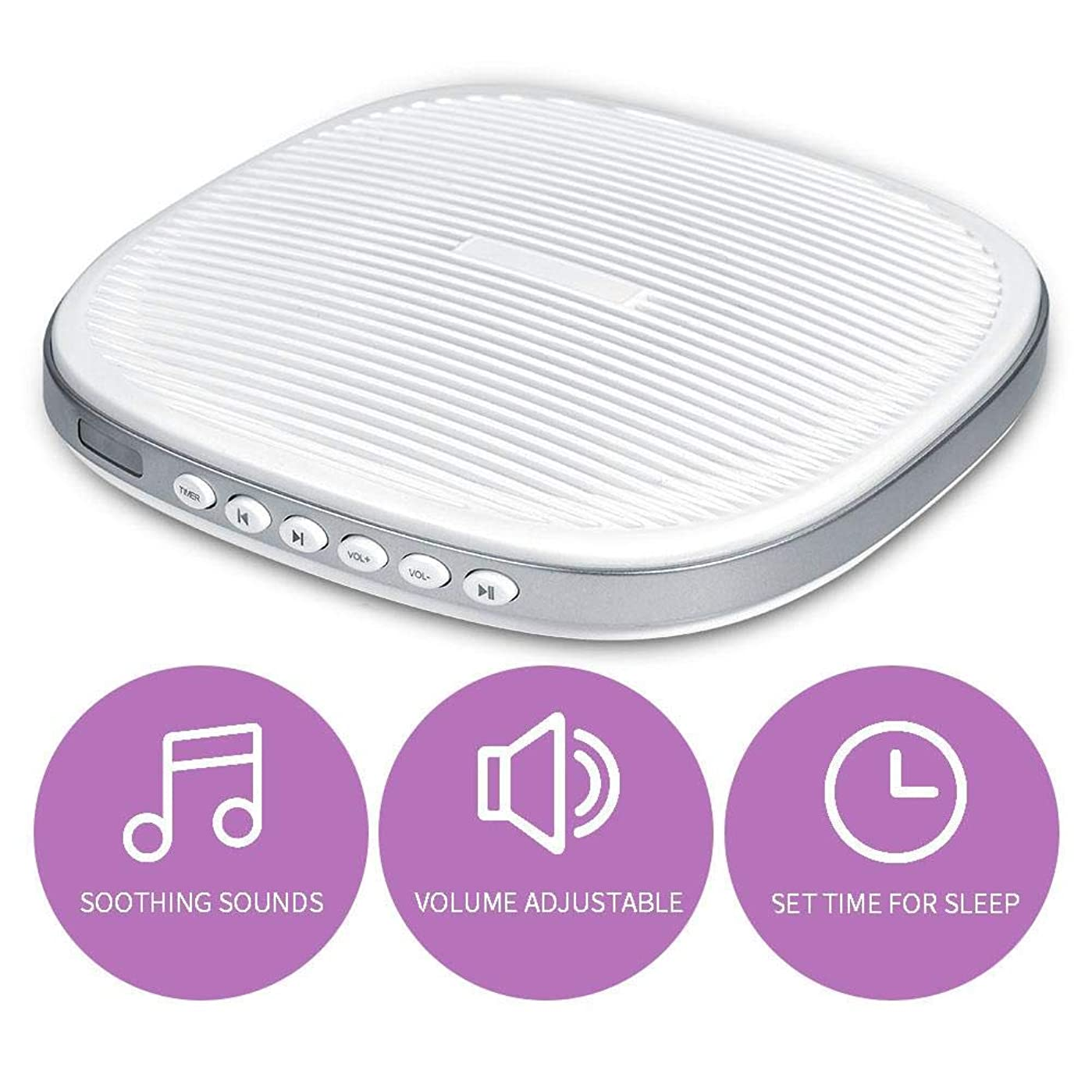 めまいジェームズダイソンパワー携帯用ホワイトノイズの睡眠機、赤ちゃん大人の旅行者の寝室のオフィスの家のための20のなだめるような音の3つのタイマーの睡眠の音機械
