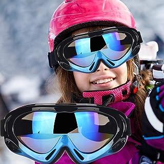 Fengzio skidglasögon barn snowboardglasögon UV400 skydd snowboardglasögon anti-snöglasögon för skidåkning, skridskoåkning,...