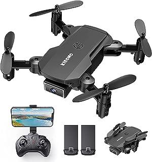 KIDOMO Mini opvouwbare drone met 1080p camera voor kinderen en FPV wifi live overtarging, RC mini quadcopter met ledverlic...