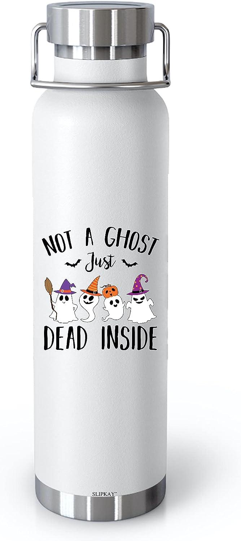 Halloween Max 73% OFF Not A Ghost Just Dead Vacuum Bot 22oz Superlatite Insulated Inside
