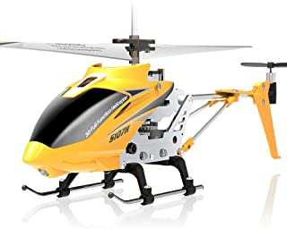ZYLFN RC Helicopter, Aircraft with 3.5 Channel,Bigger Size, Sturdy Alloy Material, Gyro Stabilizer, Multi-Protection Drone for Kids and Beginners to Play Indoor,Yellow