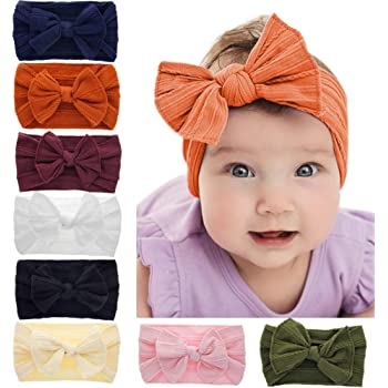 Baby Girls Kids Bunny Rabbit Bow Knot Turban Headband Hair Band Head Wraps K0