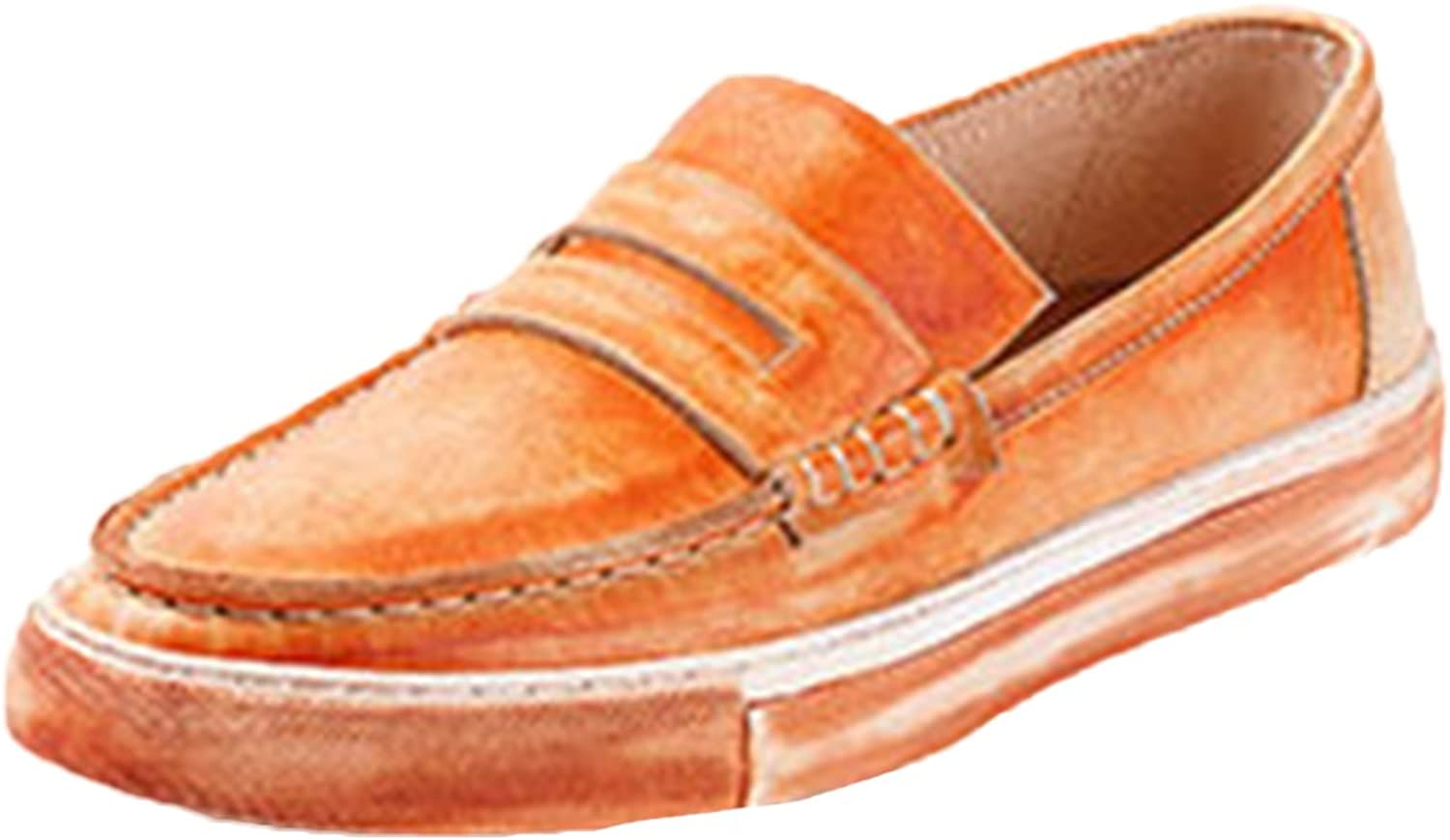 Icegrey Men's Leather Slipper Casual Slip On Loafers shoes