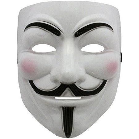 V Mask Masque accessoire de costume pour adulte V pour Vendetta/Guy Fawkes/Anonymous