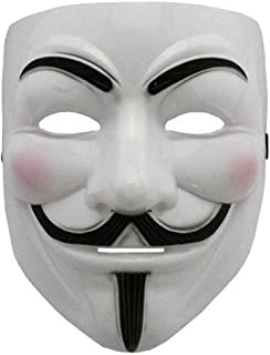Boolavard 2015 NEW V for Revenge Mask with Eyeliner Narice Anonymous Guy Fawkes Fancy Adult Costume Accessories Halloween ...