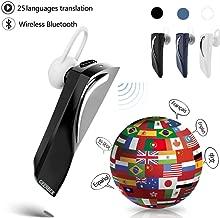 Bluetooth Smart Voice Translator 28 Languages Instant Translate Headphone Wireless Bluetooth Translator Earphone Business Voice Translator (Black)