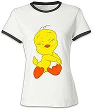 Women's Red Blank Tweety Bird Looney Tunes T Shirt US Size