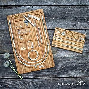 Bundle 1 > Mala-Perlenbrett aus Holz für Ketten, Malas und Armbänder   Kettenlänge bis 110 cm (Bead Design Board…