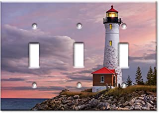 Art Plates Brand Triple Toggle Switch/Wall Plate - Lighthouse Of MI
