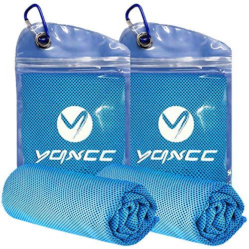 YQXCC Kühlhandtuch 2 Stück 120 x 30 cm, Eishandtuch, Mikrofaser-Handtuch für sofortige Kühlung, kühles kaltes Handtuch für Yoga, Strand, Golf, Reisen, Fitnessstudio, Sport, Schwimmen, Camping