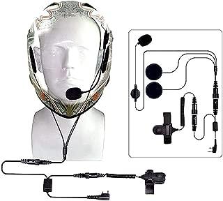 LIYUDL Full Face Close Helmet Motorcycle Earpiece Headset For Baofeng UV5R UV-B5 Radio
