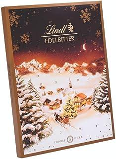 Lindt Edelbitter Adventskalender 24 verschiedene Überraschungen aus dunkler Schokolade 250g