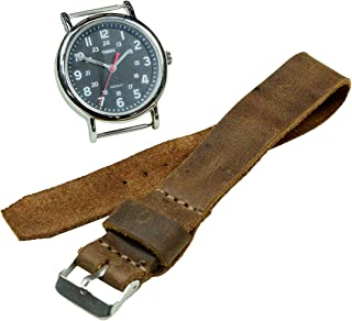 Hide & Drink, Leather Wristwatch Strap Replacement (20mm), Watch Band, Timepiece Accessories, Handmade Includes 101 Year W...
