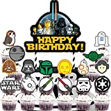 Cake Topper Cupcake Toppers Set for Star War Cake Decorations Toppers Birthday Party Supplies for Children