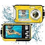 Unterwasserkamera Kamera Wasserdicht Full HD 1080P 24MP Unterwasser Kamera zum Schnorcheln Selfie Dual Screen 16X Digital Zoom wasserdichte Kamera -