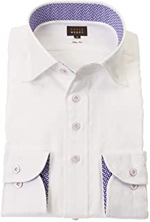 STYLE WORKS (スタイルワークス) ドレスシャツ ワイシャツ カッターシャツ シャツ 派手シャツ 柄シャツ 長袖 綿 ワイドカラー