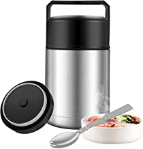 Food Jar Wide Mouth for Hot Food,27 oz BPA Free Thermos Lunch Box with Handle Lid,Leak Proof Double Wall Vacuum Insulated ...