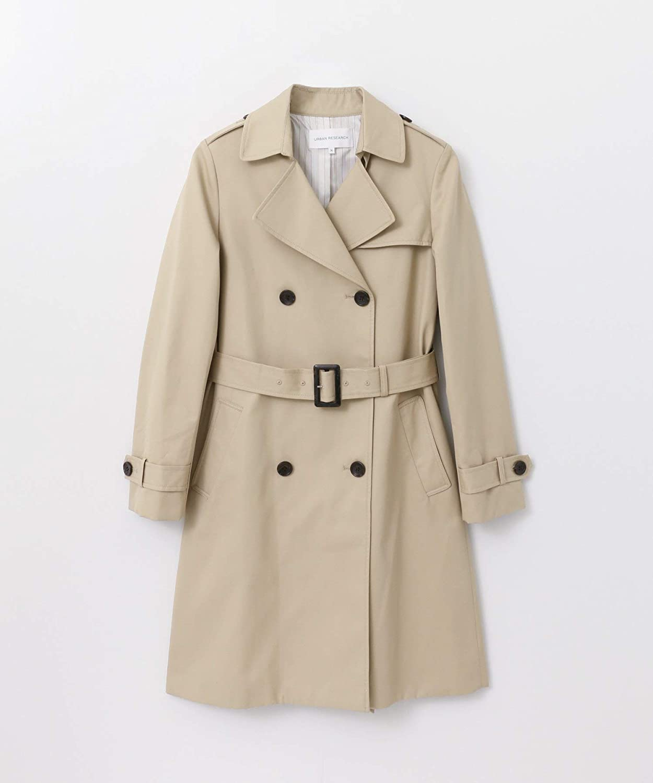 [アーバンリサーチ] ジャケット コート 高密度ギャバトレンチコート レディース