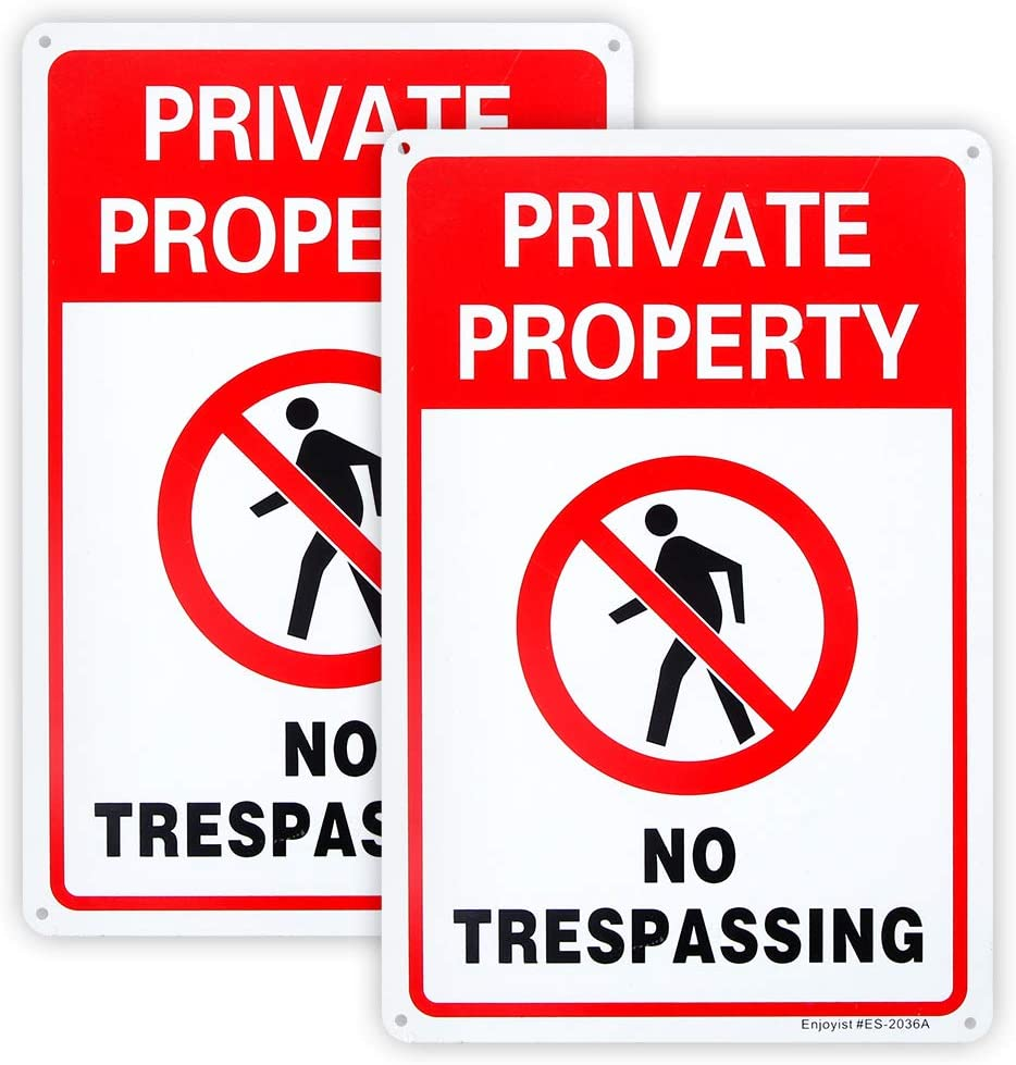 Max 73% OFF SEAL limited product 2-Pack Private Property Sign No .04