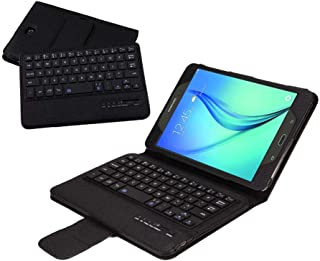 Samsung Galaxy Tab A 8.0 SM-T380 T385 Tablet Keyboard Leather Case, Folio PU Case Bluetooth Built-in Stand Removable Keyboard Case Cover with Auto Sleep/Wake for 2017 Model T380 T385 (Black)