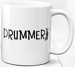 Regalo de la taza de café del baterista 330 ml Taza de cerámica Cita Música Tambores Amor Vida útil del tambor