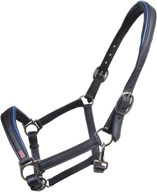NETPROSHOP Iceland Horse  Karlslund Soft Leather Halter, Colour bluee