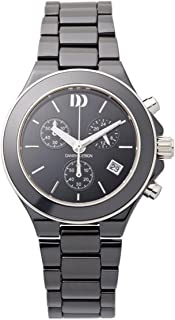 Danish Design IV64Q874 Black Ceramic Band Black Dial Chronograph Women's Watch