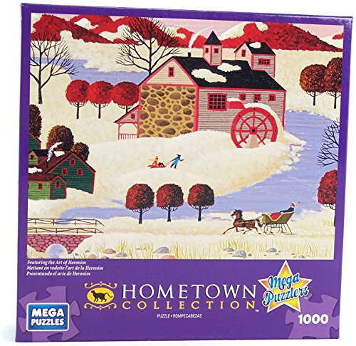 Hometown Collection Winter in Maine 1000 Piece Jigsaw Puzzle By Heronim