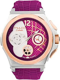 Mulco Enchanted Shell Quartz Multifunctional Movement Women's Watch   Design and Scale Pattern Sundial Display with Rose Gold Accents   Silicone Watch Band   Water Resistant