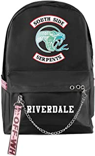Riverdale Mochila con Cremallera Mochila Moda de Moda Viajes al Aire Libre Mochila de Carga USB Mochila de Estudiante Salida