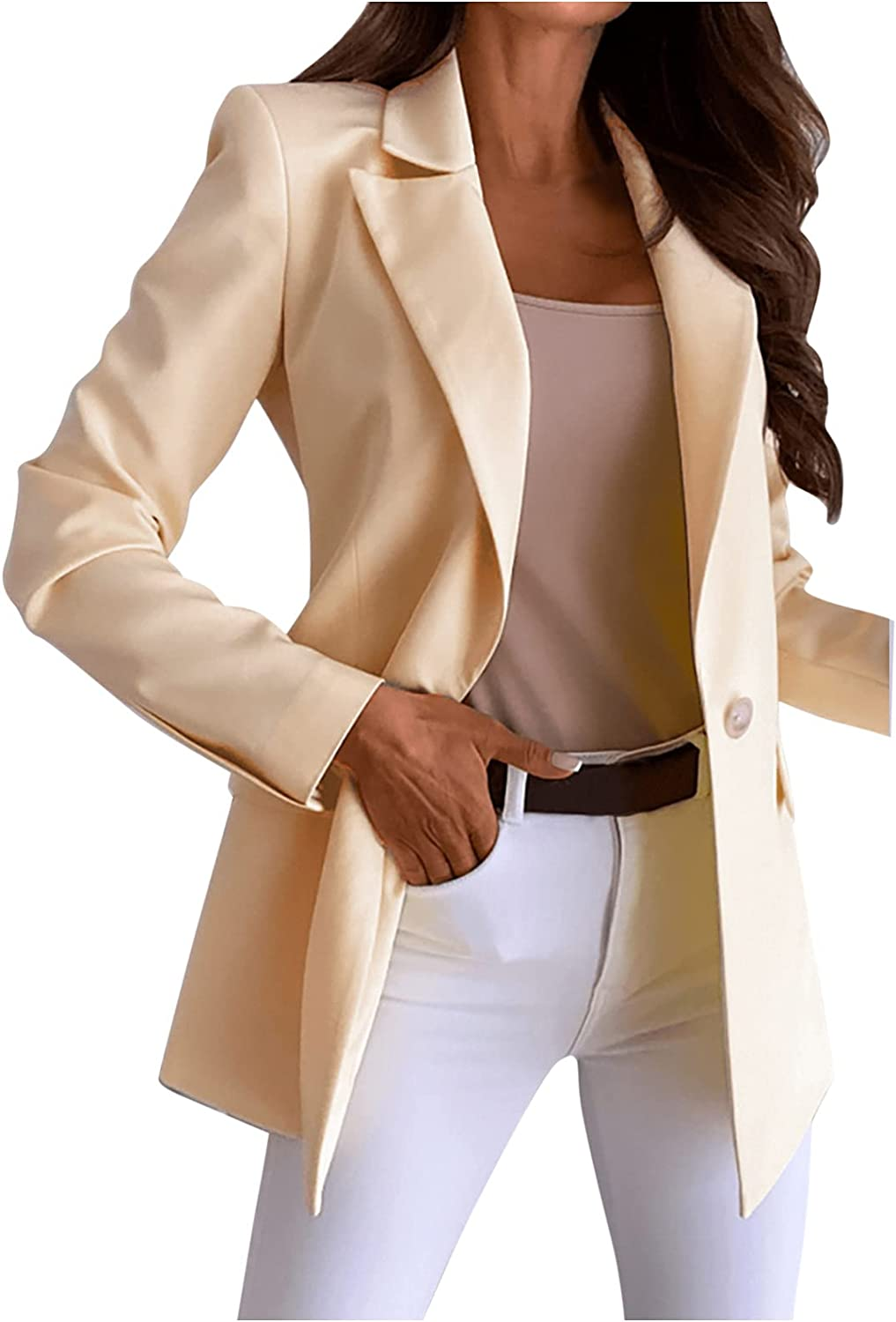 Casual Blazers for Womens Open Ranking TOP10 Sleeve Work San Antonio Mall Long Front Of