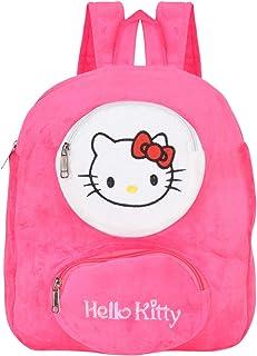 4d834e0f0 Chords Soft Plush Bag Velvet Cute Hello Kitty Backpack for Girls 10Ltrs