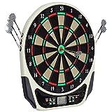 HOMCOM Diana electrónica 6 Dardos Juego Digital con Sonido 18 Juegos 159 Variantes
