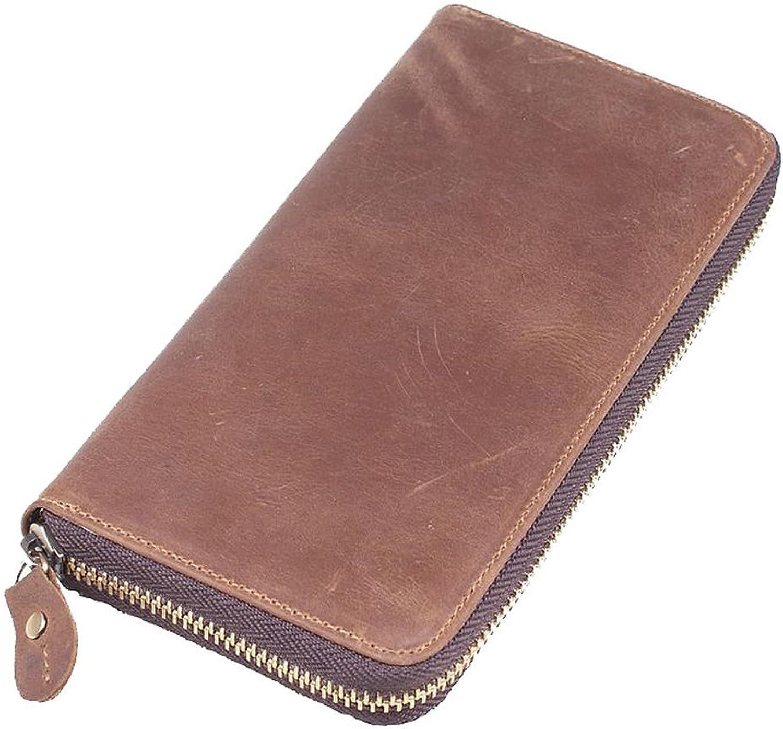 Everdoss Herren Damen echt Leder Geldbörsen Brieftasche Brieftasche Brieftasche lang Portemonnaie Clutch Bag mit viele Kartenfächer Reißverschluss B013SWLKUA 03760c