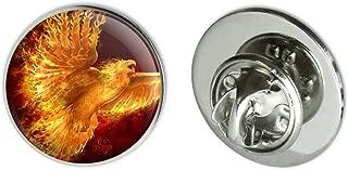 Phoenix Firebird Flaming Fire Bird Rising Fantasy Metal 0.75
