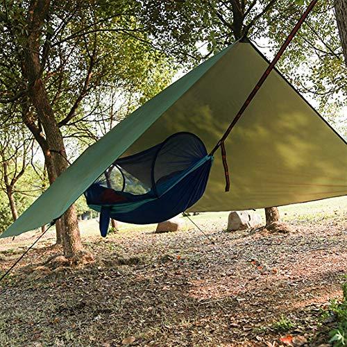 SUNYUE Camping Hamac Set avec Moustiquaire, Sangles D'arbres Carabiners Cordes Double Portable Outdoor Léger Nylon Hamac pour Camping Randonnée Pédestre Jardin Voyage 290 * 140cm