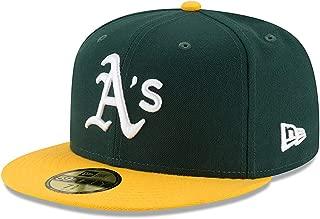 ニューエラ (New Era) 59フィフティ キャップ - 本物 オークランド・アスレチックス (Oakland Athletics) 緑 7 1/8 (56.8cm)
