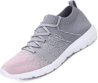 Women's Walking Shoes Breathable Mesh Slip On Sneakers Lightweight Casual Running Shoes
