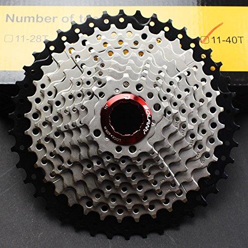 CYSKY Cassette de 10 velocidades 11-42T MTB Cassette 10 velocidades para Bicicleta de montaña, Bicicleta de Carretera, MTB, BMX, SRAM, Shimano