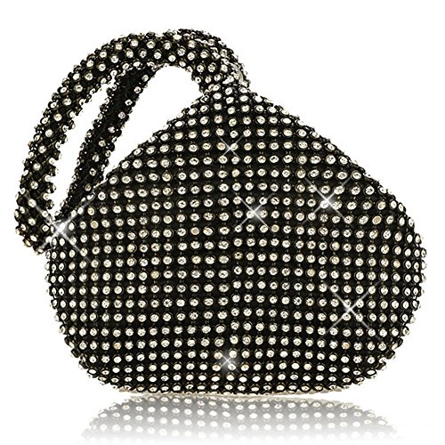 JIAN YA NA Ladies 'Evening Clutch Bling Glitter borsa triangolo...