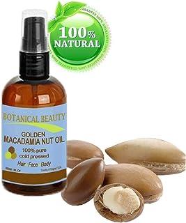 Macadamia aceite 100% puro, prensado en frío trägeröl–120ml. Para gesünder aspecto piel.