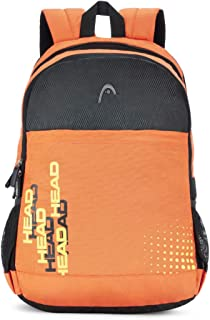 HEAD Booster 21 Ltrs Orange and Black Laptop Backpack (HD/BOO10BP)
