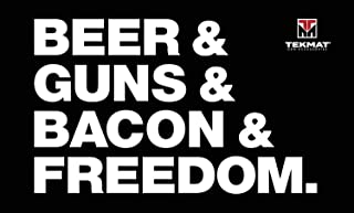 Ultra Beer & Guns & Bacon & Freedom Oil Resisitant. Waterproof, Washable