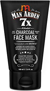 Man Arden 7X Activated Charcoal Face Mask 100ml - Infused with Vitamin C & Menthol
