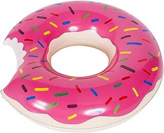 WENTS Donut Anillo de natación Inflable Flotador Gigante Buñuelo Piscina, Verano natación Anillos, Agua Pool Float Juguetes inflables para Adultos y niños 120cm