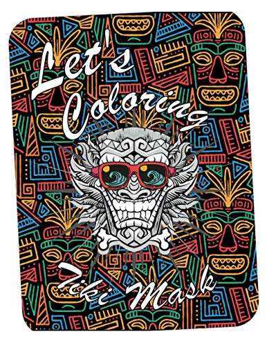 Let's Coloring Tiki Mask: More than 200 Hand drawn Art Tiki Mask, Hawaii, Tropical And Polynesian History Coloring Book Adult Find Relaxation And Mindfulness with Stress Relieving