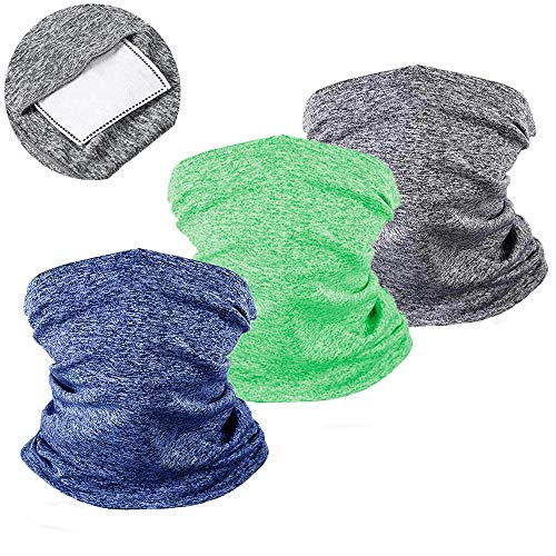 ZOORON Kids Neck Gaiters with Filter Face Cover for Children Face Scarf Mask Bandana Balaclava for Sports Outdoors Cycling