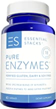Essential Stacks Pure Digestive Enzymes - Gluten Free, Dairy Free & Soy Free with 3rd Party Verified Allergen Testing – Smart Blend of 18 Powerful Digestive Enzymes So You Can Digest All Food Groups