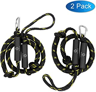 Obcursco PWC Bungee Dock Line Stretchable for Kayak, Boat, Marine, Sets of Two(4ft & 6ft) with Foam Float Perfect for Jet Ski, SeaDoo, Yamaha WaveRunner, Kayak, Pontoon