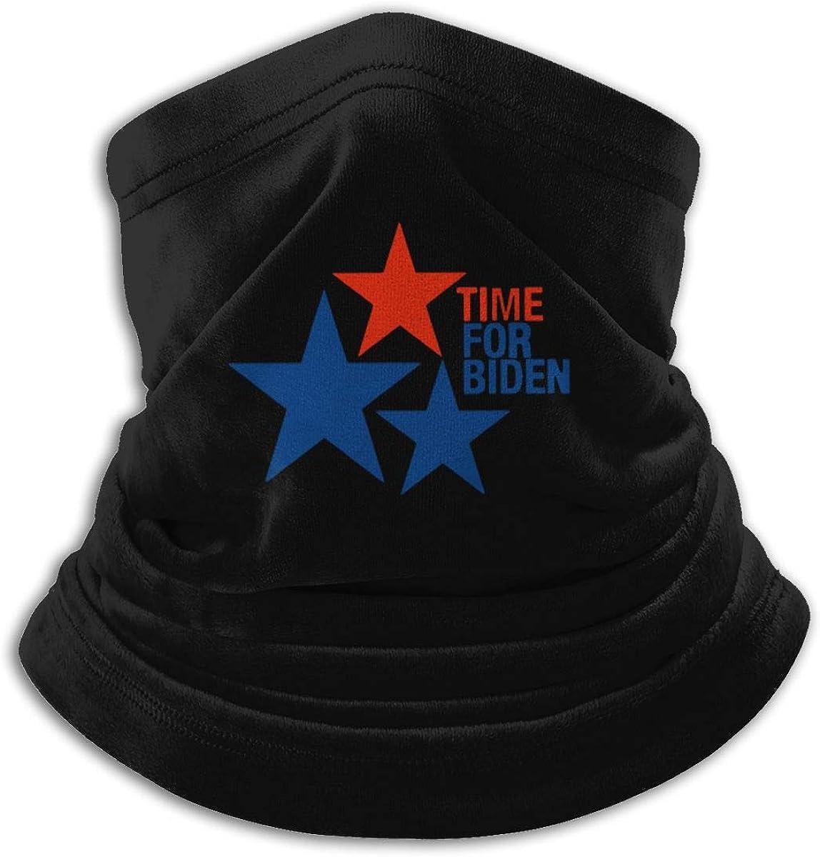 Joe Biden 2020 Black Multi-function Neck Warmer Gaiter Polyester Neck Warmer Windproof Winter Neck Gaiter Cold Weather Scarf For Men Women